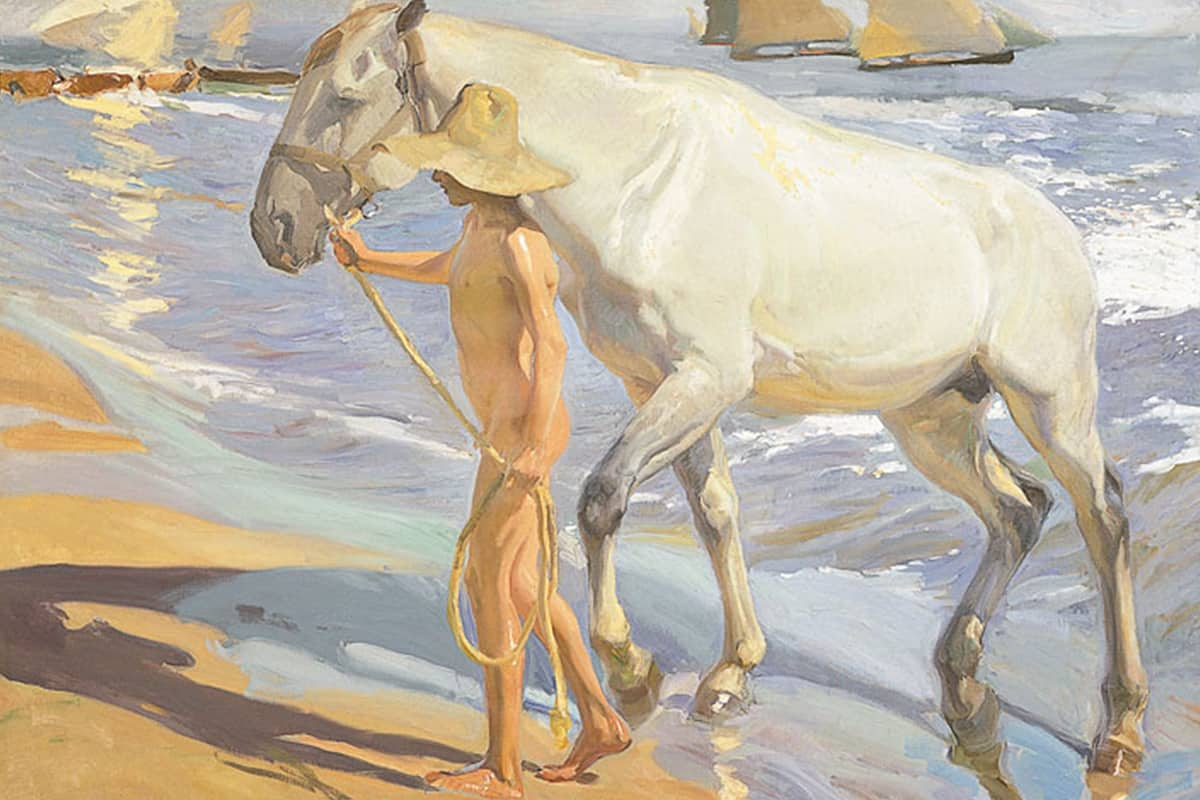 Making of Light - Come si fa la luce - David Dolcini - Joaquin Sorolla - El baño del caballo