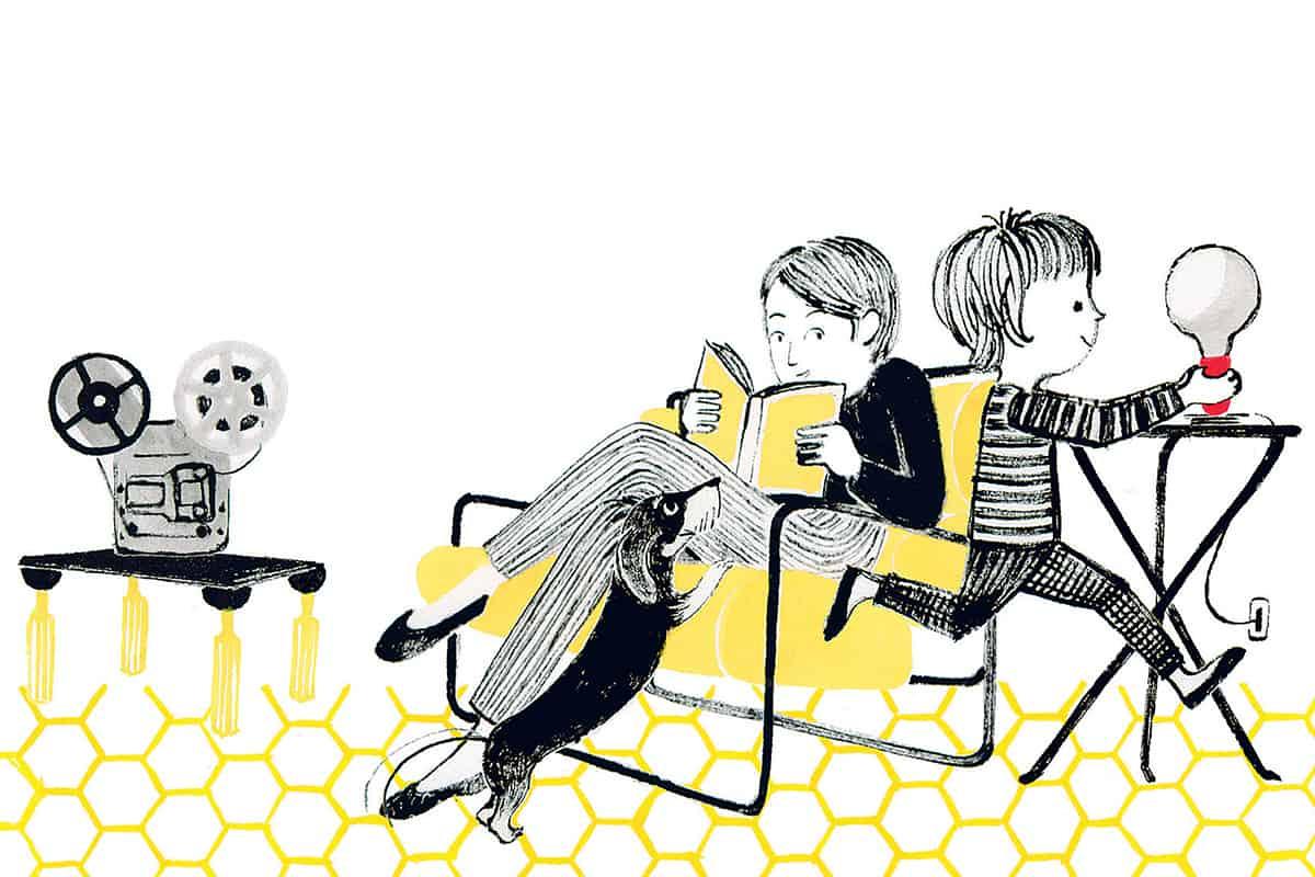 Making of Light - Come si fa la luce - Achille Castiglioni - _COVER_Courtesy Fondazione Achille Castiglioni illustrazione Sara Vivan_1 - MOL