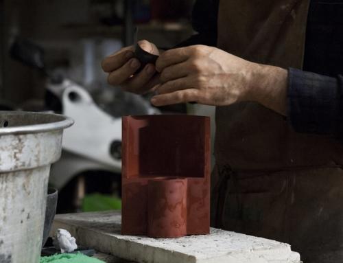 Luci e gnomi in cemento colorato