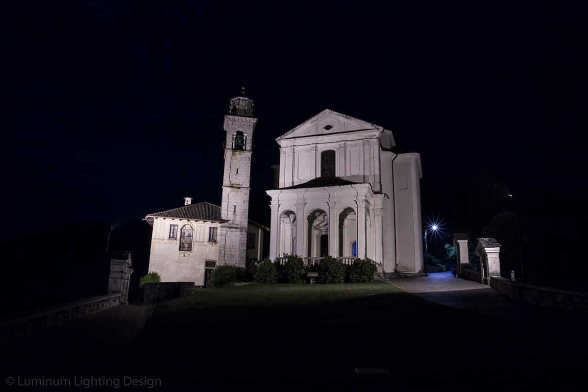 04 Making Of Light Illuminare è Dare Nuovi Valori Santuario Madonna Del Sasso Prova Luce Esterni