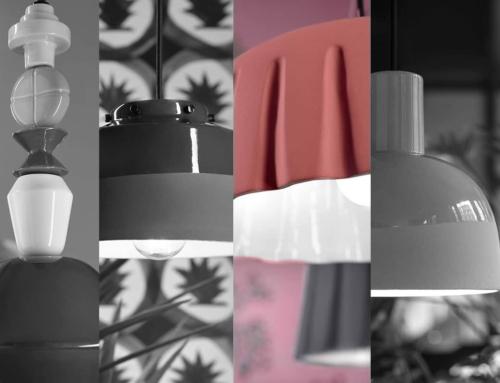 Panneggio di ceramica e luce