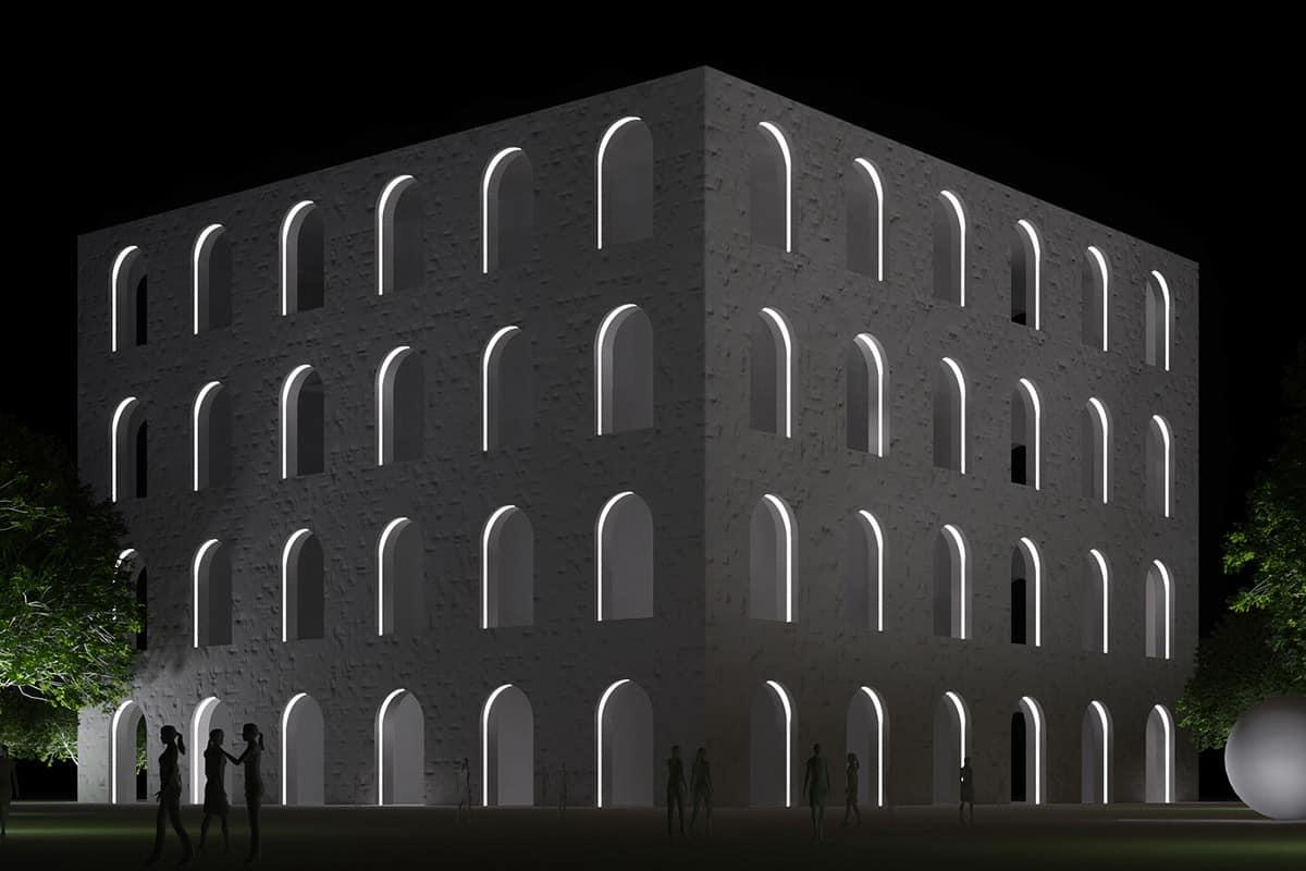 A Making Of Light Punto Linea Superficie Render Emi