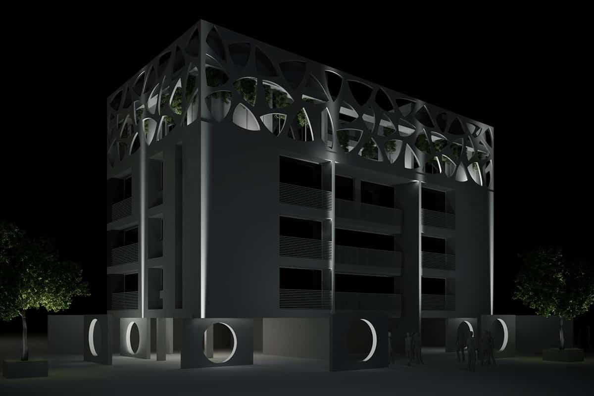 C Making Of Light Punto Linea Superficie Render Mikro