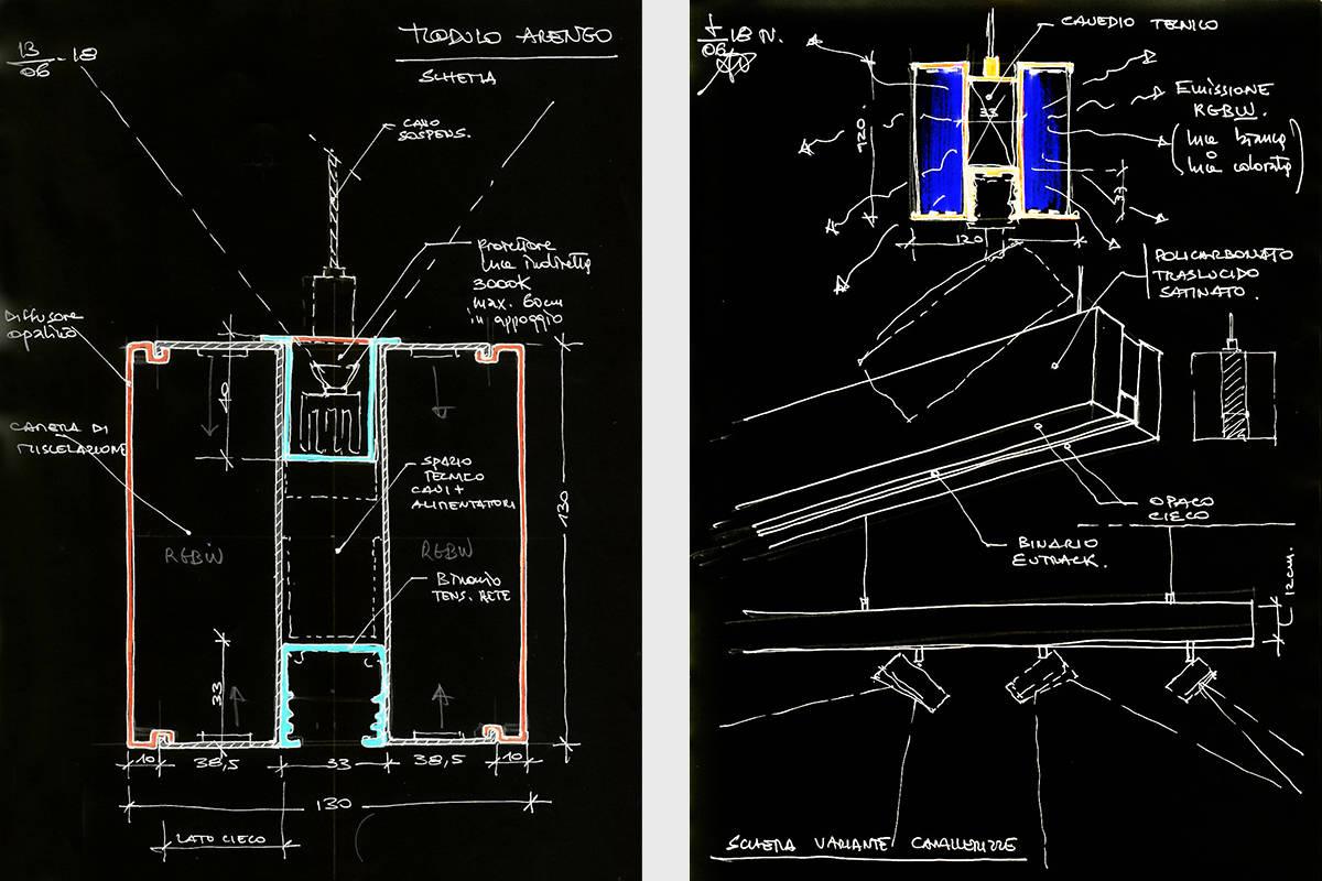 007 Making Of Light Luce Mutante Al Part Schema Modulo Arengo @studiopasetti