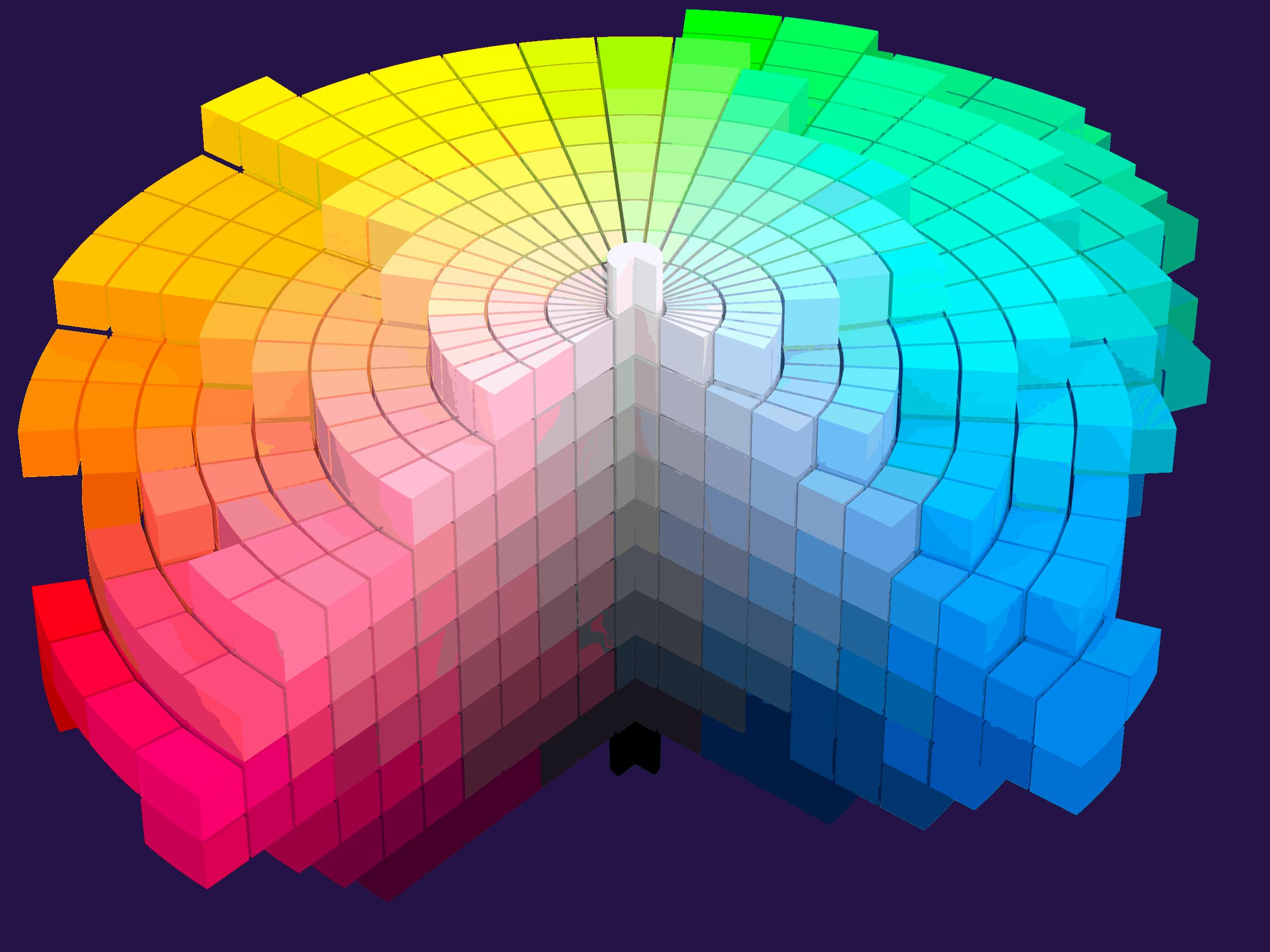 08 Making Of Light Luce, Colore E Visione Le Basi E Le Giuste Parole Munsell 1943 Color Solid Cylindrical Coordinates